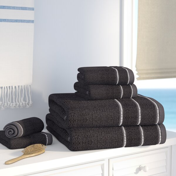 6 Piece 100% Cotton Towel Set by Beachcrest Home